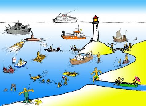 På sejltur model livsnavigation